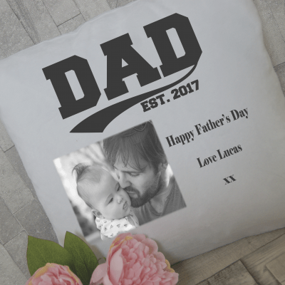 Personalised dad est. cushion