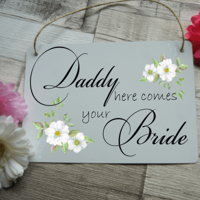 "Personalised ""Your Wording"" Wedding Hanging Sign"