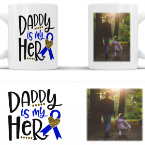 Personalised daddy is my hero mug