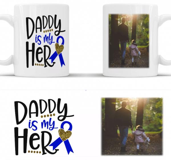 Personalised daddy is my hero mug