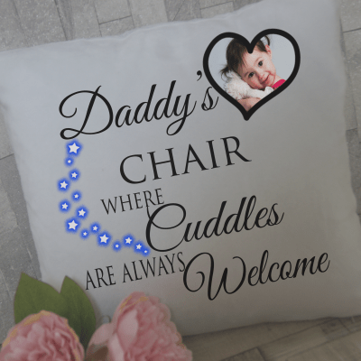 Personalised daddy's chair cushion