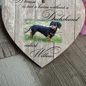 Personalised A House Is Not A Home Without Wooden Hanging Heart