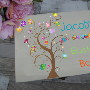 Personalised Easter 2 Wooden Box