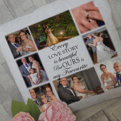 Personalised every love story cushion