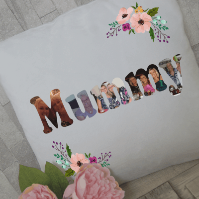 Personalised mummy photo cushion