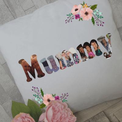 Personalised mummy photo cushion