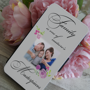 Personalised family is one of nature's masterpieces PU leather phone flip case