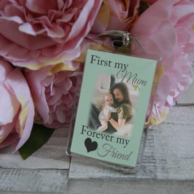 Personalised First My Mum Forever My Friend Keyring
