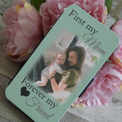 Personalised First My Mum Forever My Friend PU Leather Phone Flip Case