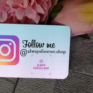 Personalised Follow Me On Instagram Wallet Card