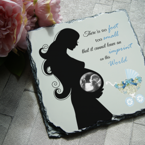 Personalised there is no foot too small slate
