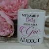 Personalised gin addict mug