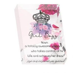 Girl Boss Crystal Block