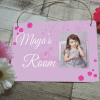 Personalised girls bedroom hanging sign