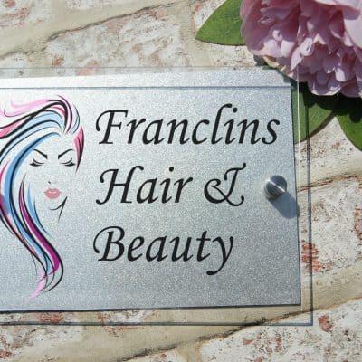 Personalised business door sign