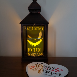 Personalised family Halloween face lantern