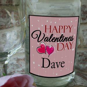 Personalised Happy Valentines Day Wine Bottle Label