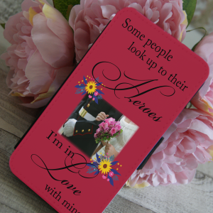 Personalised some people look up to their hero PU leather phone flip case
