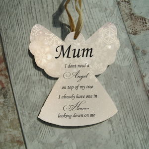 Personalised I don't need an angel on top of my tree hanging angel
