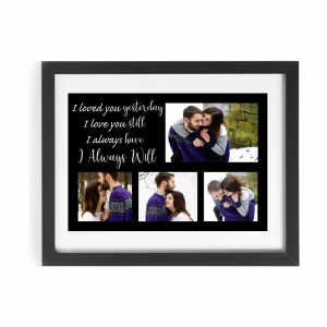 Personalised I Loved You Yesterday Design