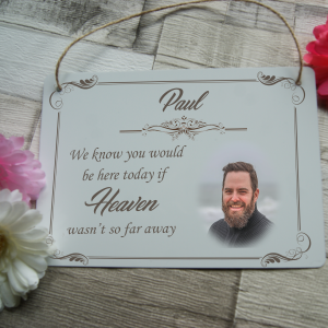 Personalised wedding remembrance hanging sign