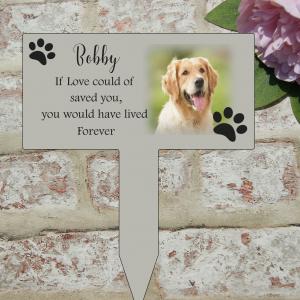 Personalised pet grave/memorial marker