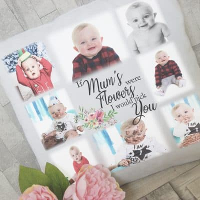 Personalised if mums were flowers photo cushion