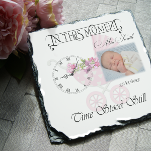 Personalised in this moment time stood still slate