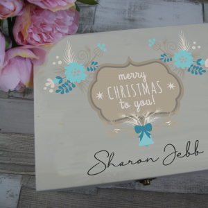 Personalised Merry Christmas To You Wooden Box