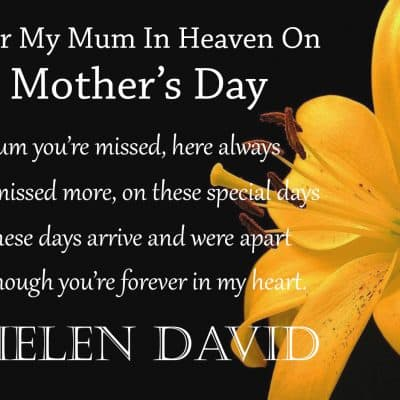 Personalised Mum In Heaven On Mothers Day Crystal Block