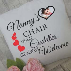 Personalised nanny's chair cushion