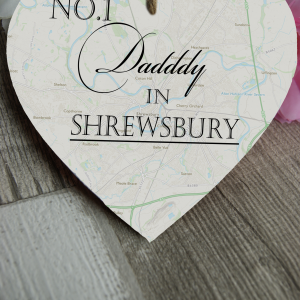 Personalised No. 1 In Wooden Hanging Heart