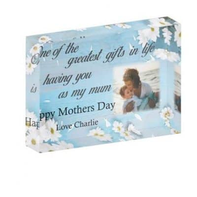 Personalised One Of The Greatest Gifts Mothers Day Crystal Block
