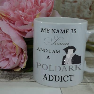 Personalised poldark addict mug