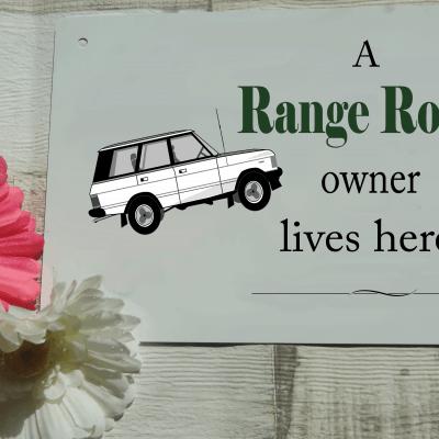 Personalised range rover aluminium door sign