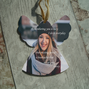 Personalised remembering you is easy hanging angel