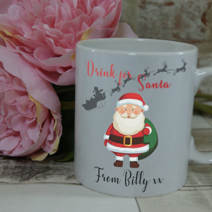 Personalised drink for santa mug