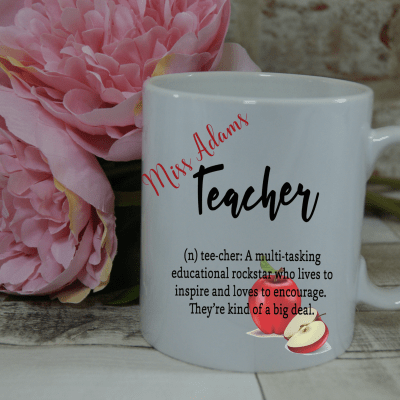 Personalised teacher noun mug