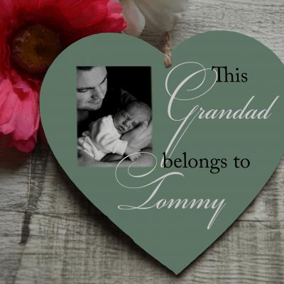 Personalised Belongs To Wooden Hanging Heart
