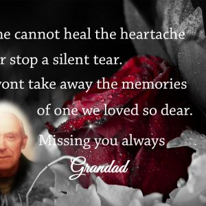 Personalised Time Cannot Heal The Heartache Crystal Block