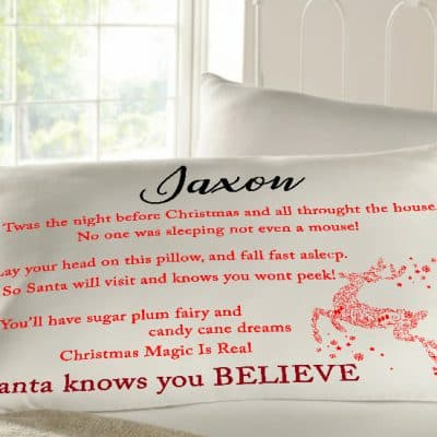 Personalised sleepy head pillow case - t'was the night before christmas