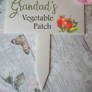 Personalised vegetable patch marker