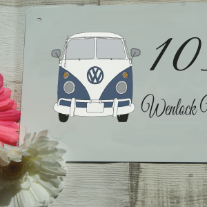 Personalised VW camper van aluminium door sign