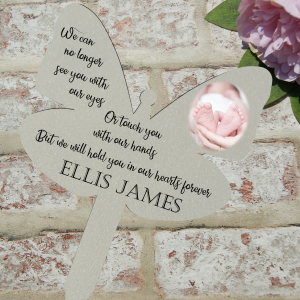 Personalised we can no longer see you with our eyes grave/memorial marker