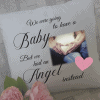 Personalised we were going to have a baby cushion