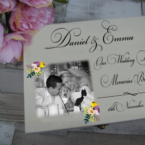 Personalised Our Wedding Day Memories Box