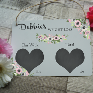 Personalised weight loss hanging sign