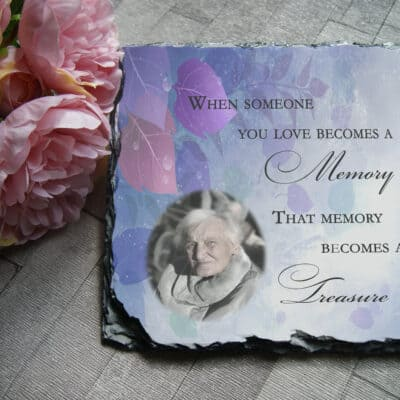 Personalised when someone you loves becomes a memory slate