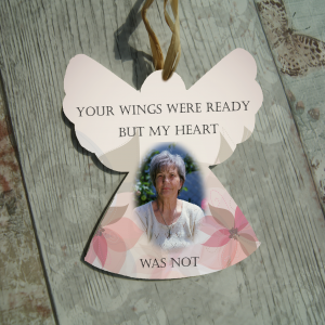Personalised your wings were ready but my heart was not hanging angel