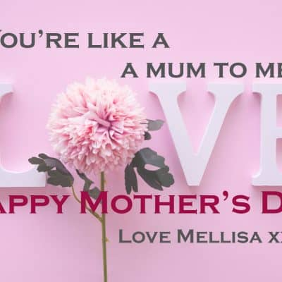 Personalised Like A Mum To Me Mothers Day Crystal Block